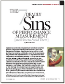 The 7 Deadly Sins of Performance Measurement
