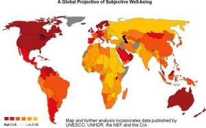 Map of World Happiness