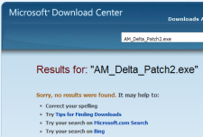 Snapshot of Microsoft Download Center: AM_Delta_Patch2.exe