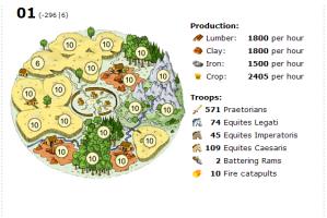 Travian comx2: Village 01: Resources Fields