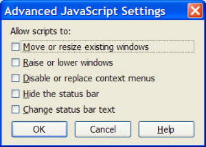 Firefox Advanced Javascript Settings
